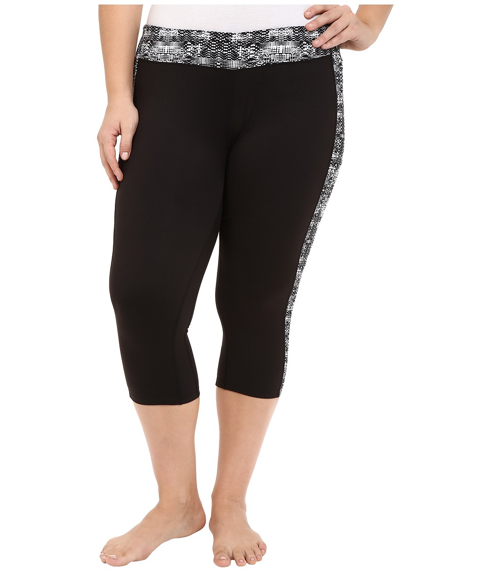 Soybu Plus Size Toni Capris Black Mirage Womens Capri