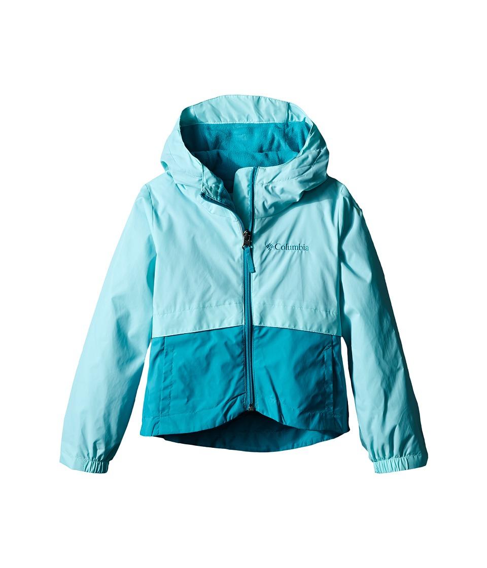 Columbia Kids Rain Zilla Jacket Little Kids/Big Kids Ocean Water Girls Coat