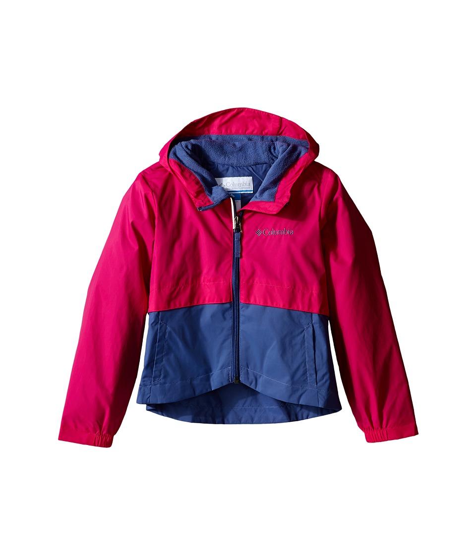 Columbia Kids Rain Zilla Jacket Little Kids/Big Kids Haute Pink/Bluebell Girls Coat