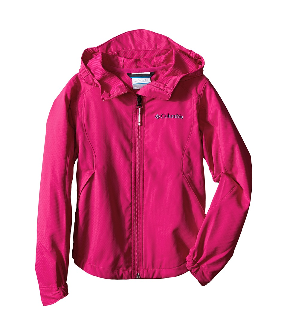 Columbia Kids - Splash Flash II Hooded Softshell Jacket (Little Kids/Big Kids) (Haute Pink) Girl
