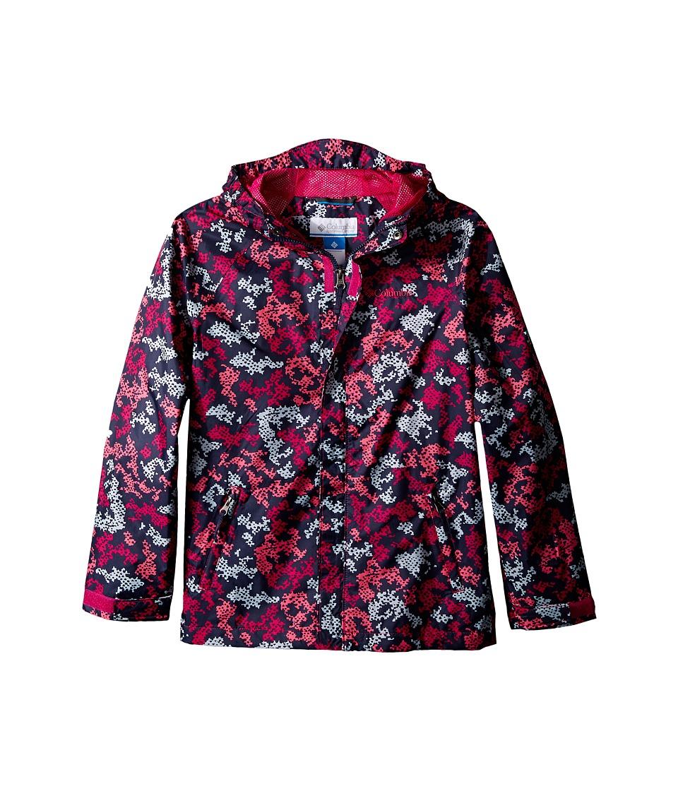 Columbia Kids Fast Curious Rain Jacket Little Kids/Big Kids Haute Pink Camo Girls Coat