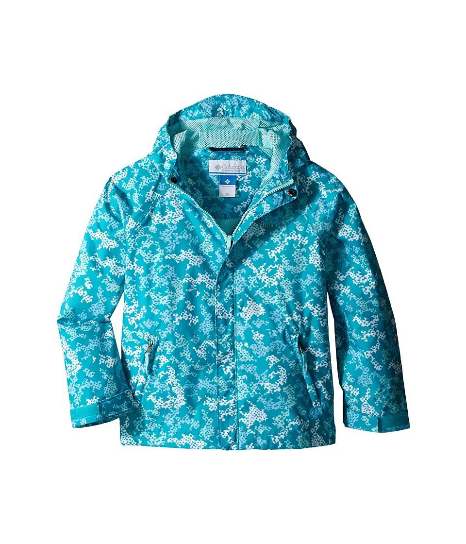 Columbia Kids Fast Curious Rain Jacket Little Kids/Big Kids Miami Camo Girls Coat