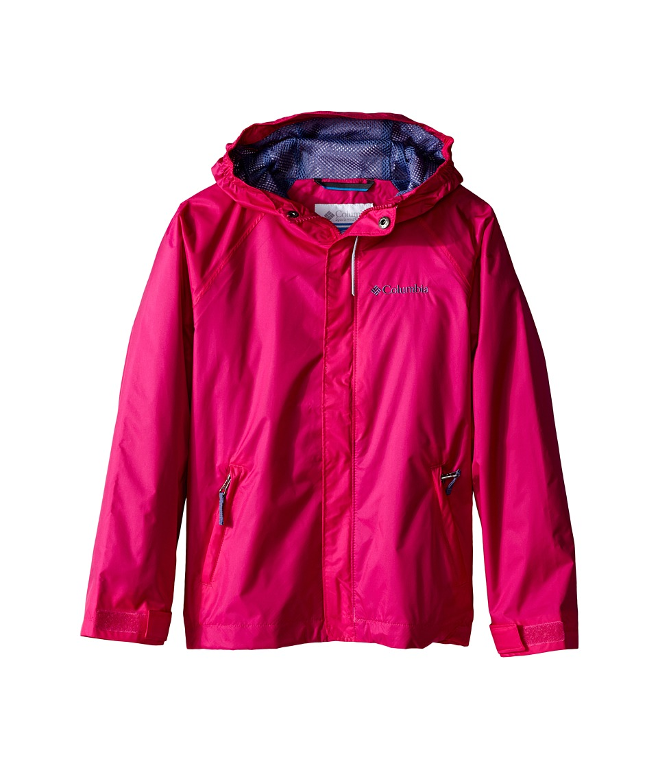 Columbia Kids Fast Curious Rain Jacket Little Kids/Big Kids Haute Pink Invizzaprint Girls Coat