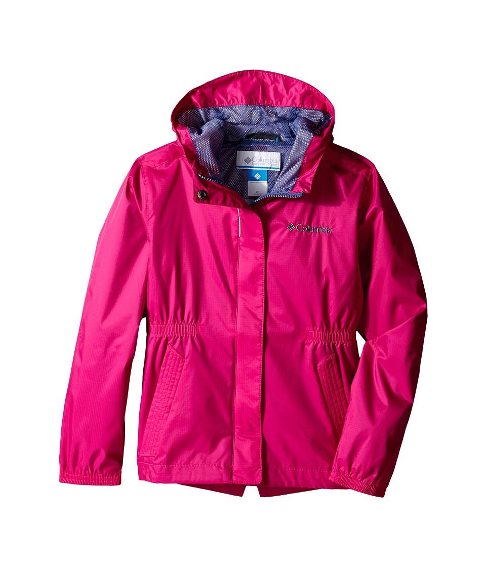 Columbia Kids Explore More Rain Jacket Little Kids/Big Kids Haute Pink Girls Coat
