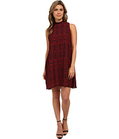 BB Dakota - Skyla Siesmic Print Mock Neck Dress