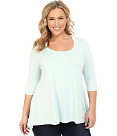 Karen Kane Plus - Plus Size 3/4 Sleeve Handkerchief Top