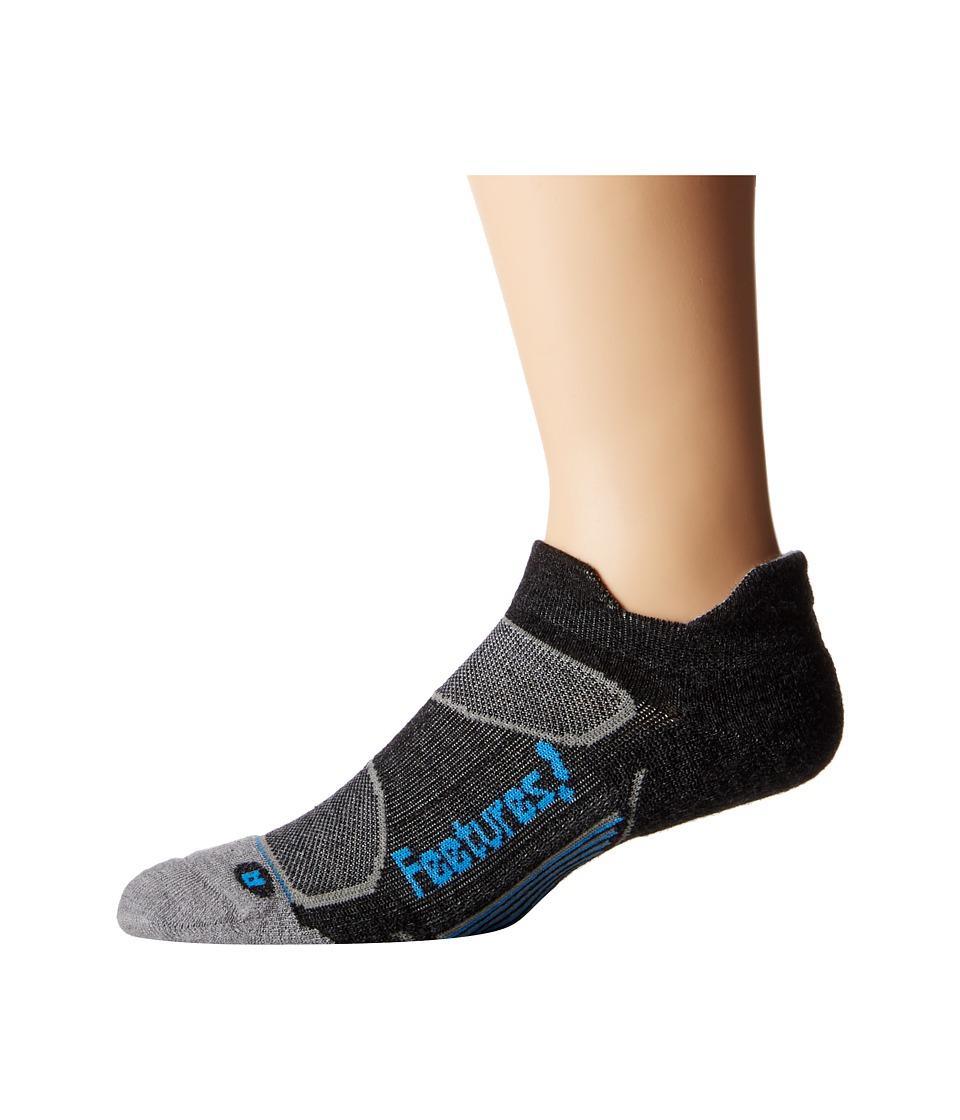 Feetures Elite Merino Light Cushion No Show Tab 3 Pair Pack Charcoal/Brilliant Blue No Show Socks Shoes