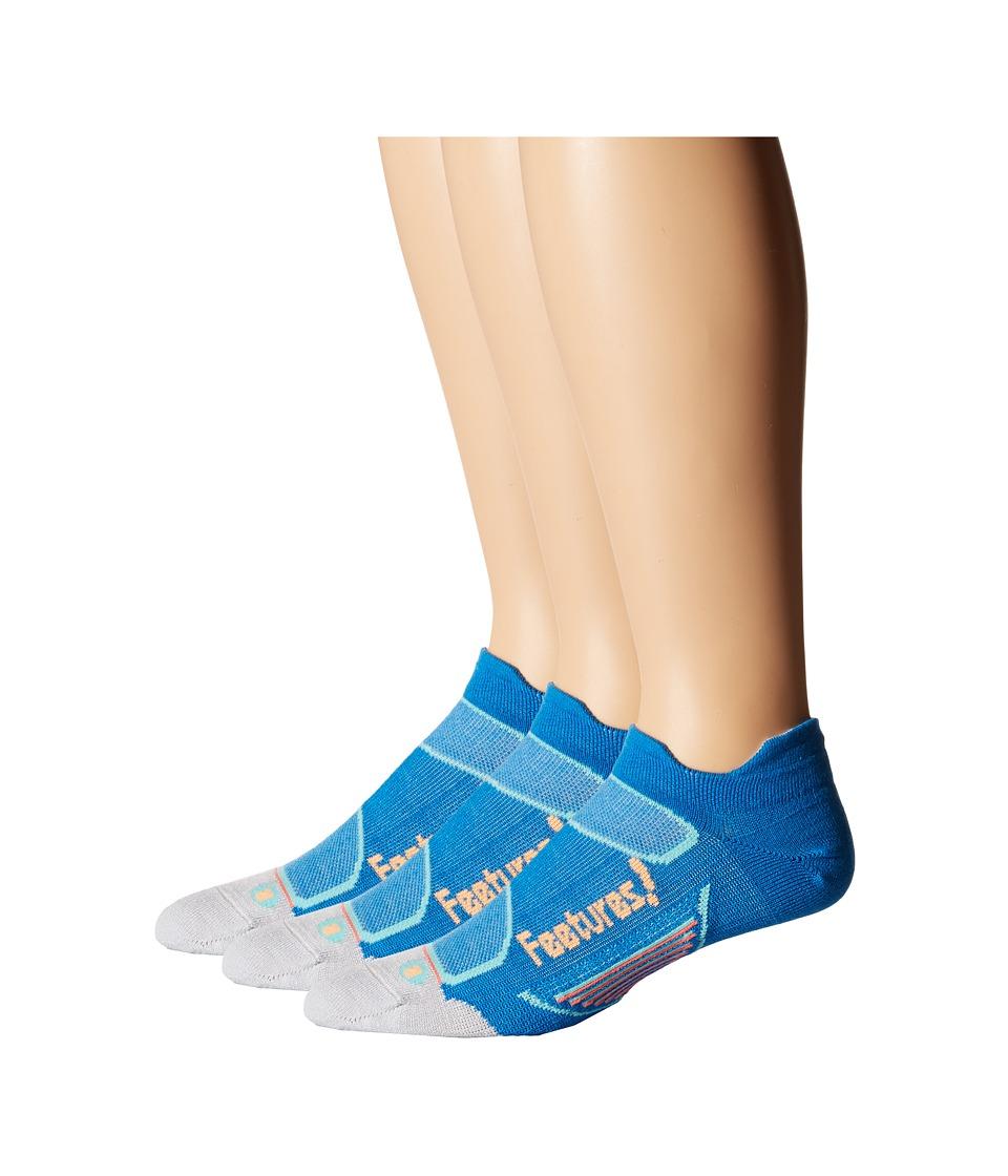 Feetures Elite Merino Ultra Light No Show Tab 3 Pair Pack Brilliant Blue/ Sherbert No Show Socks Shoes