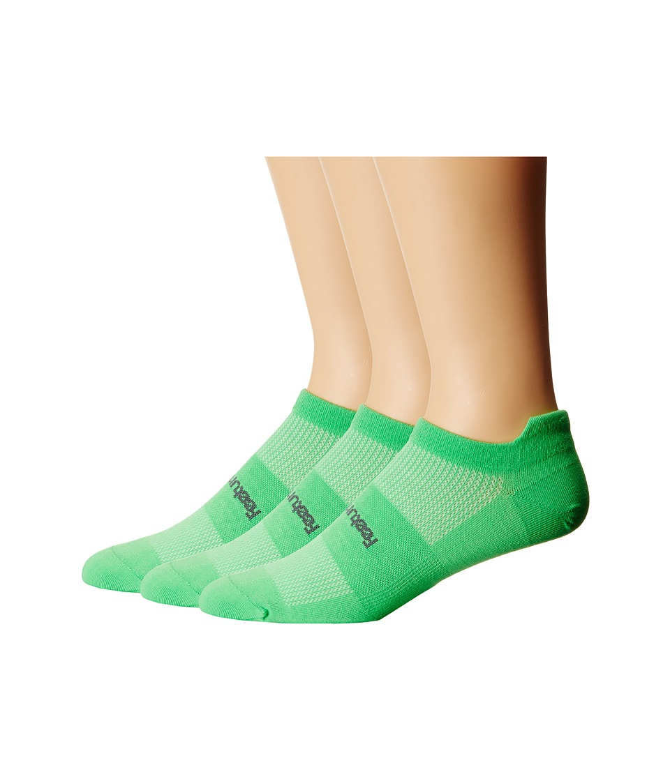Feetures High Performance Ultra Light No Show Tab 3 Pair Pack Electric Green No Show Socks Shoes