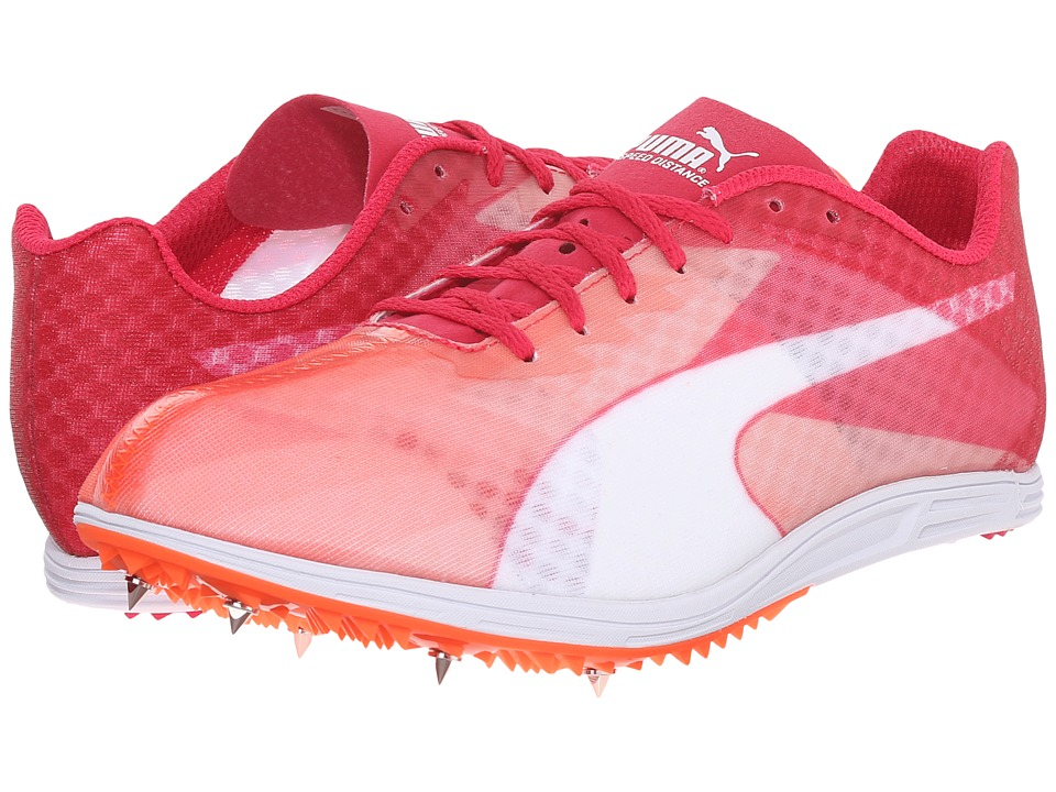 PUMA - evoSPEED Distance v6 (Fluo Peach/Rose Red/White) Womens Running Shoes
