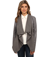 BB Dakota - Sarafina PU Jacket with Sweater Knit Drape Front