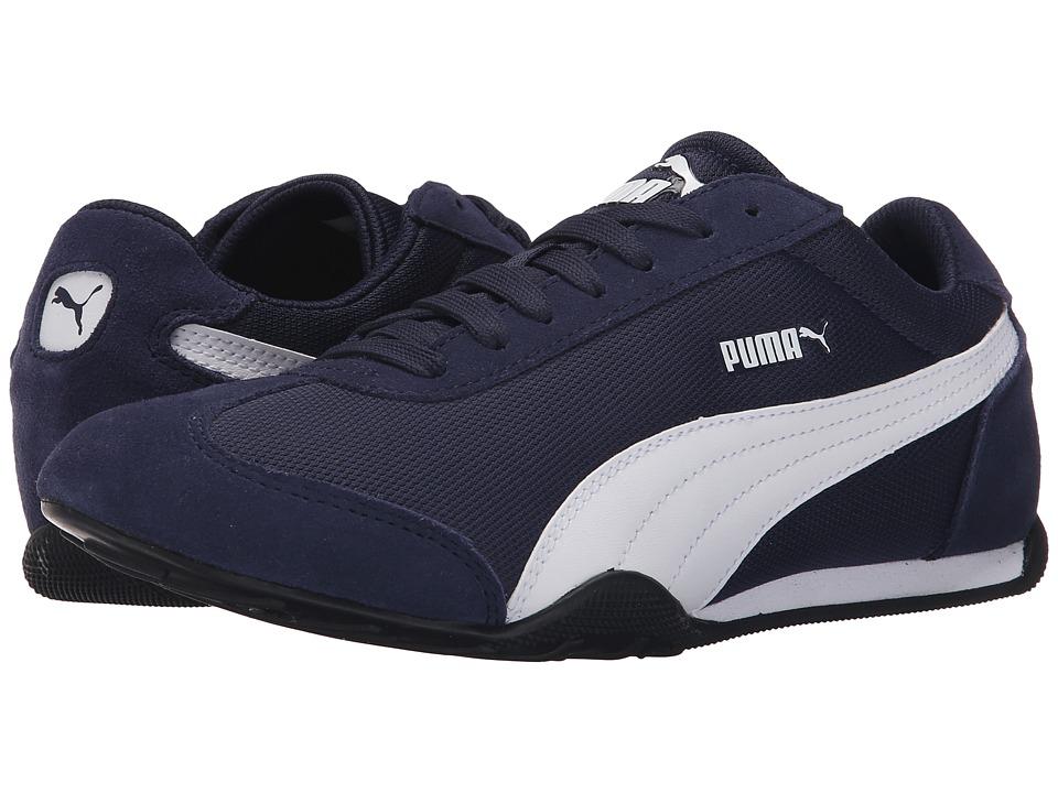 PUMA 76 Runner Fun Mesh Peacoat/White Womens Shoes