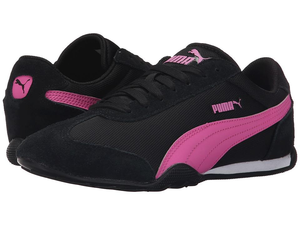 PUMA 76 Runner Fun Mesh Black/Phlox Pink Womens Shoes