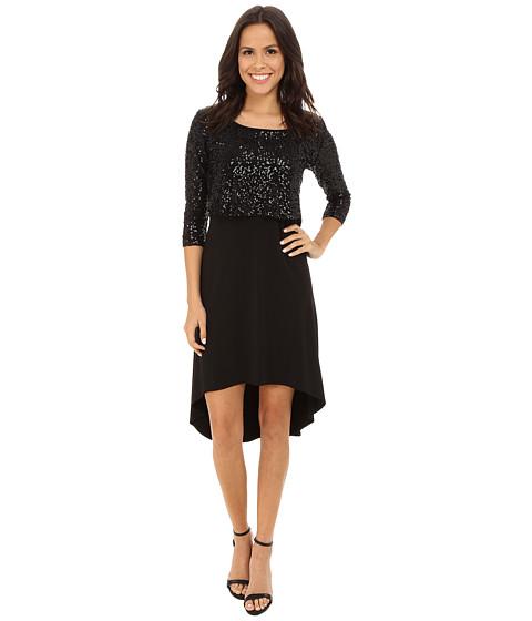 Karen Kane Sequin Top Hi-Lo Dress