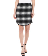 Karen Kane - Plaid Curved Hem Skirt
