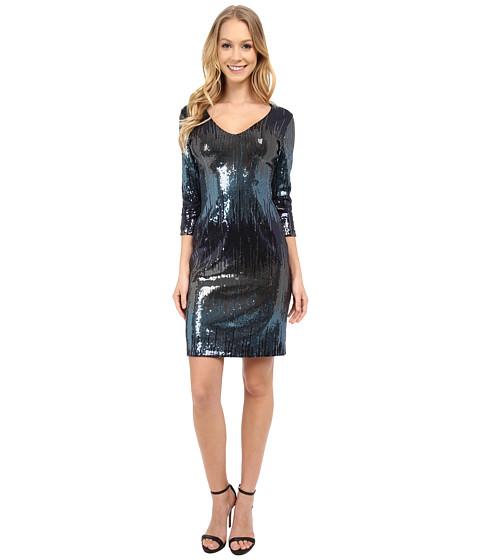 Karen kane waterfall sequin sheath dress multi for Waterfall design dress