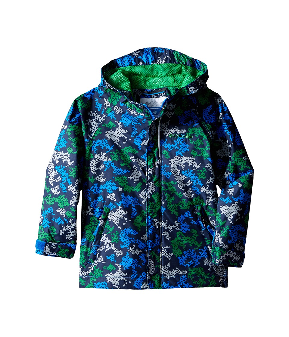 Columbia Kids Fast Curious Rain Jacket Toddler Fuse Green Camo Boys Coat