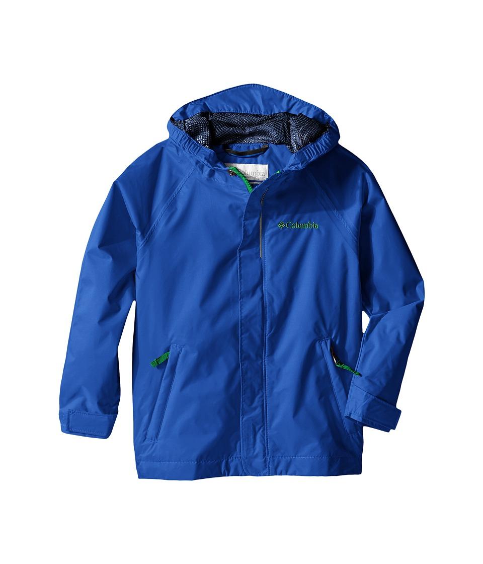 Columbia Kids Fast Curious Rain Jacket Toddler Hyper Blue Invizzaprint Boys Coat