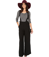 BB Dakota - Mara Satin Back Crepe Suspender Pants
