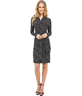 Karen Kane - Speckle Print Cascade Wrap Dress