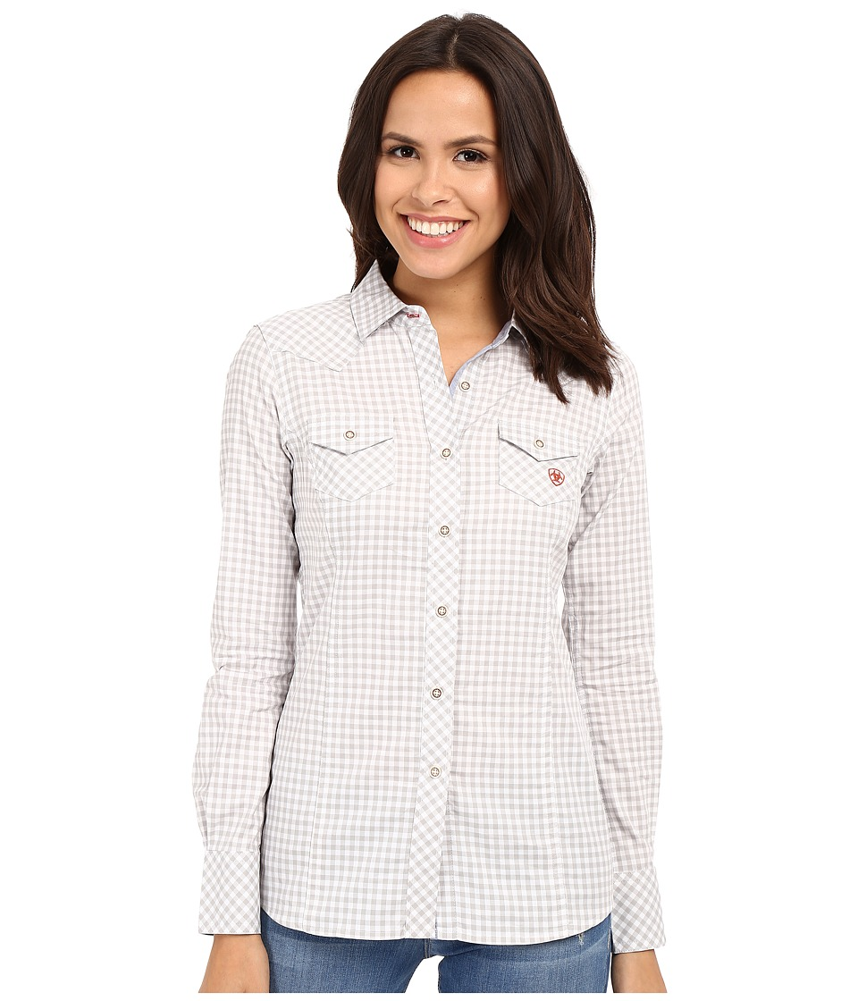 Ariat Keen Shirt Heather Gray Check Womens Clothing