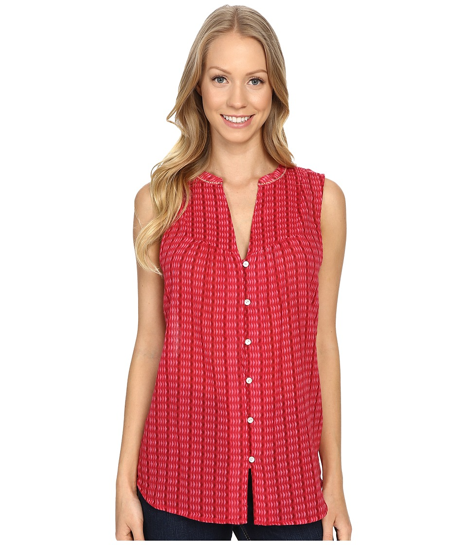 Carve Designs Alix Gauze Shirt Strawberry Alpine Womens Clothing