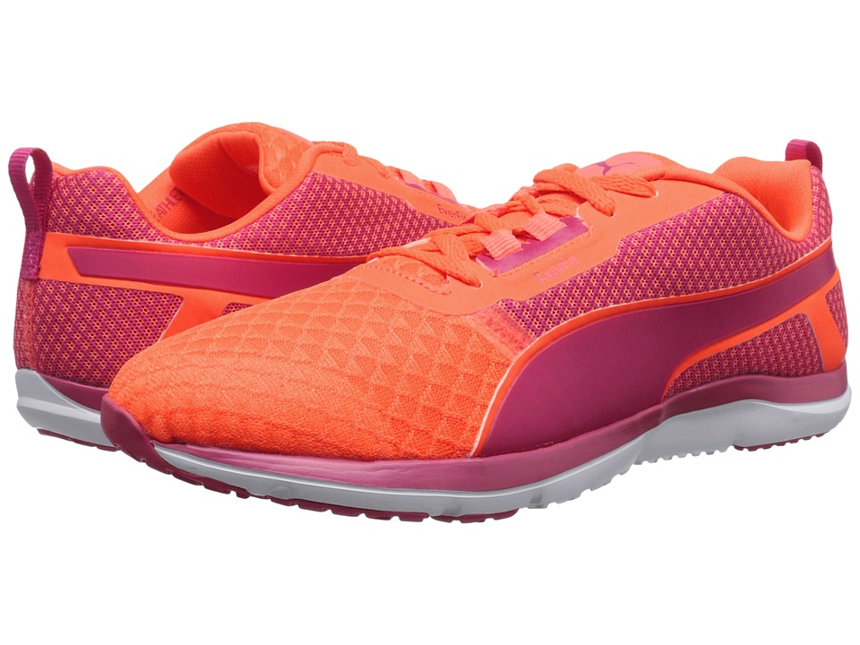 PUMA Pulse Flex XT Core Fluo Peach/Rose Red/White Womens Shoes