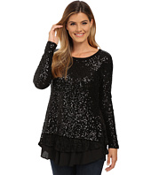 Karen Kane - Sequin Knit Lace Inset Top