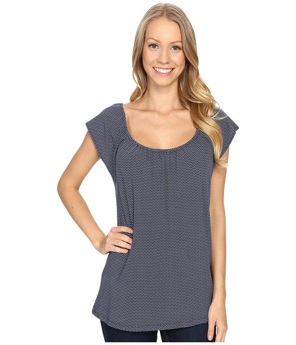 Carve Designs Sanibel Tee Anchor Chevron Womens T Shirt