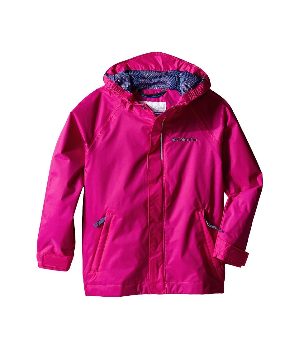 Columbia Kids Fast Curious Rain Jacket Toddler Haute Pink Invizzaprint Girls Jacket