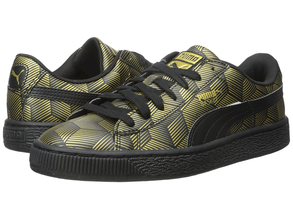 PUMA Basket Classic Metallic Black Womens Shoes