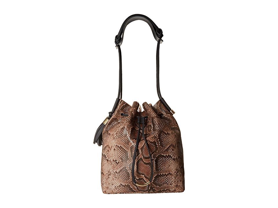 Vince Camuto - Lorin Drawstring (Burnt Toffee/Graphite) Drawstring Handbags