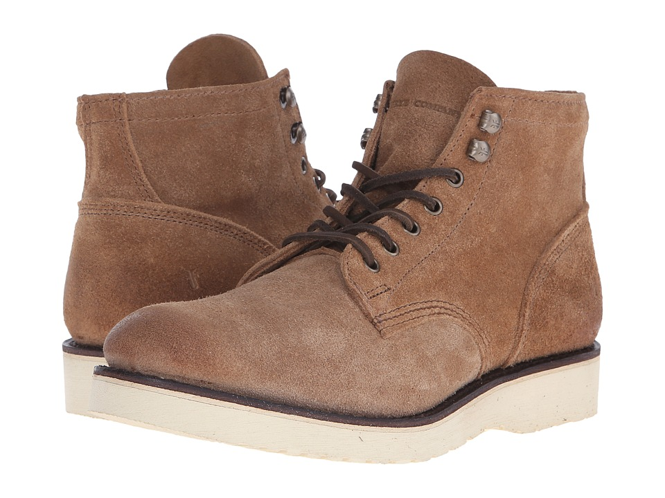 Frye - Freeman Midlace (Caramel Oiled Suede) Men
