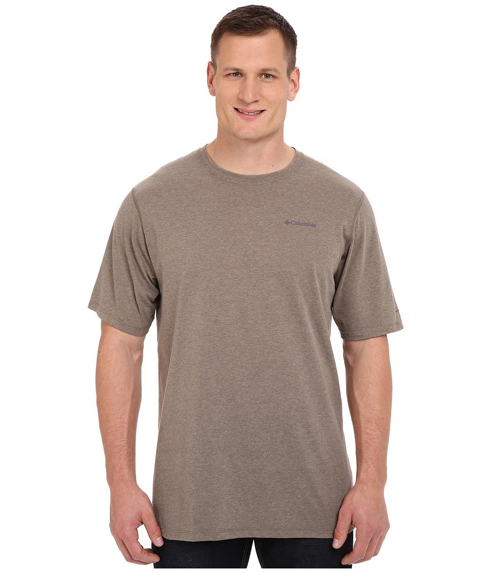 Columbia - Big Tall Silver Ridge Zero Short Sleeve Shirt (Wet Sand Heather) Men