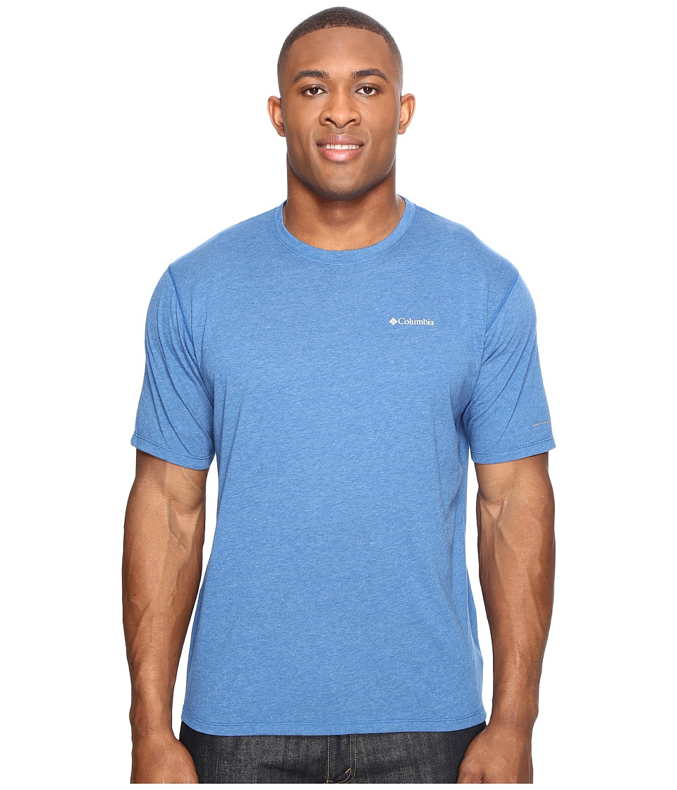 Columbia Big Tall Silver Ridge Zero Short Sleeve Shirt (Marine Blue Heather) Men