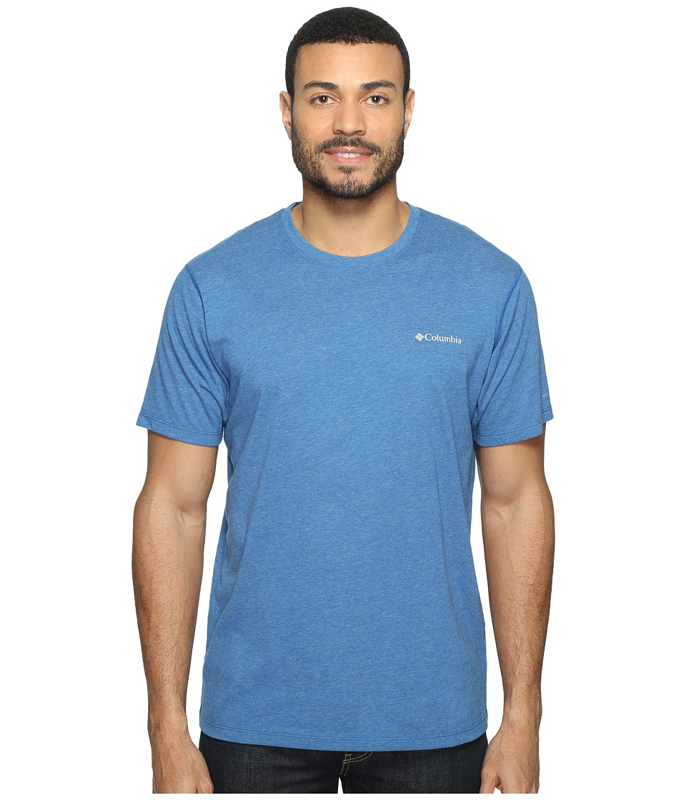 Columbia Silver Ridge Zero Short Sleeve Shirt (Marine Blue Heather) Men