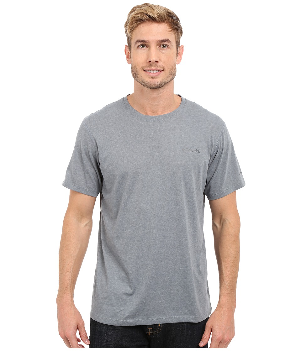 Columbia Silver Ridge Zero Short Sleeve Shirt (Grey Ash Heather) Men