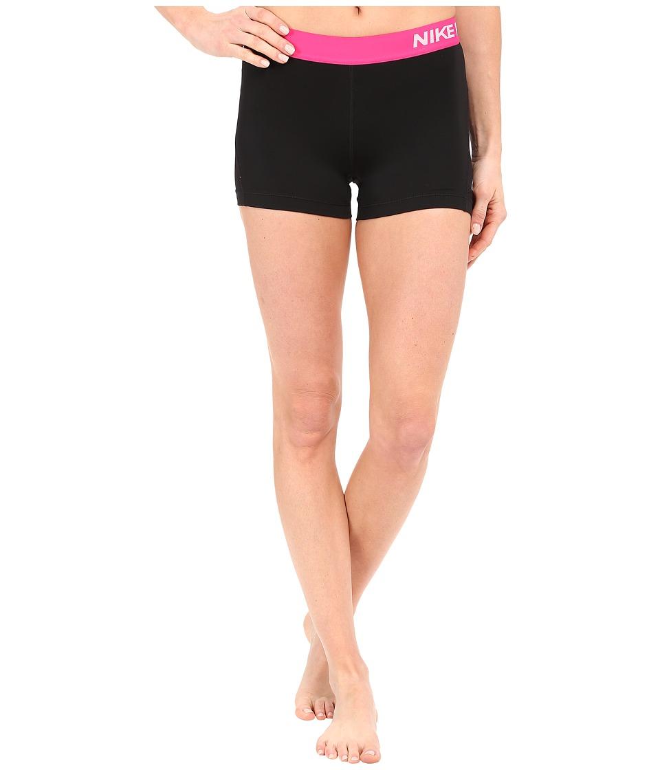 Nike Pro 3 Cool Compression Training Short (Black/Vivid Pink/White) Women