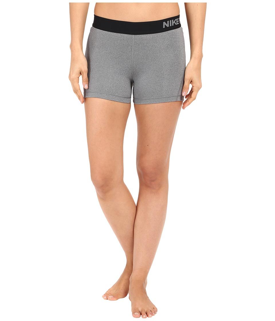 Nike Pro 3 Cool Compression Training Short (Dark Grey/Heather/Black) Women