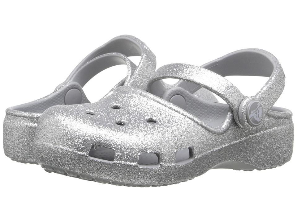 Crocs Kids Karin Sparkle Clog Toddler/ Little Kid Silver Girls Shoes