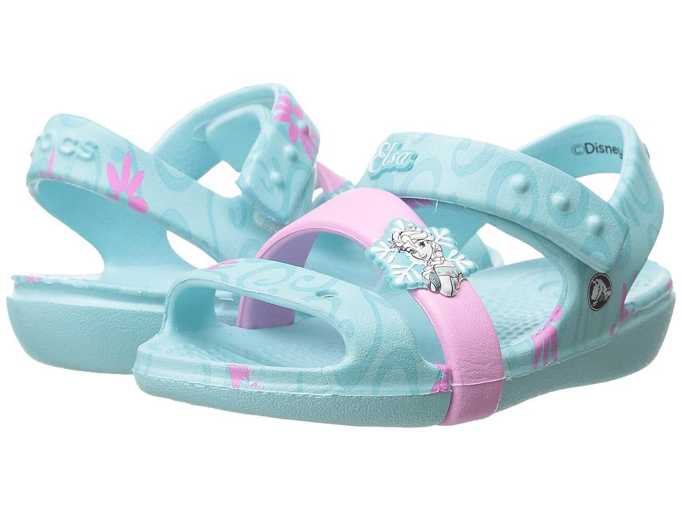 Crocs Kids Keeley Frozen Fever Sandal Toddler/Little Kid Ice Blue Girls Shoes