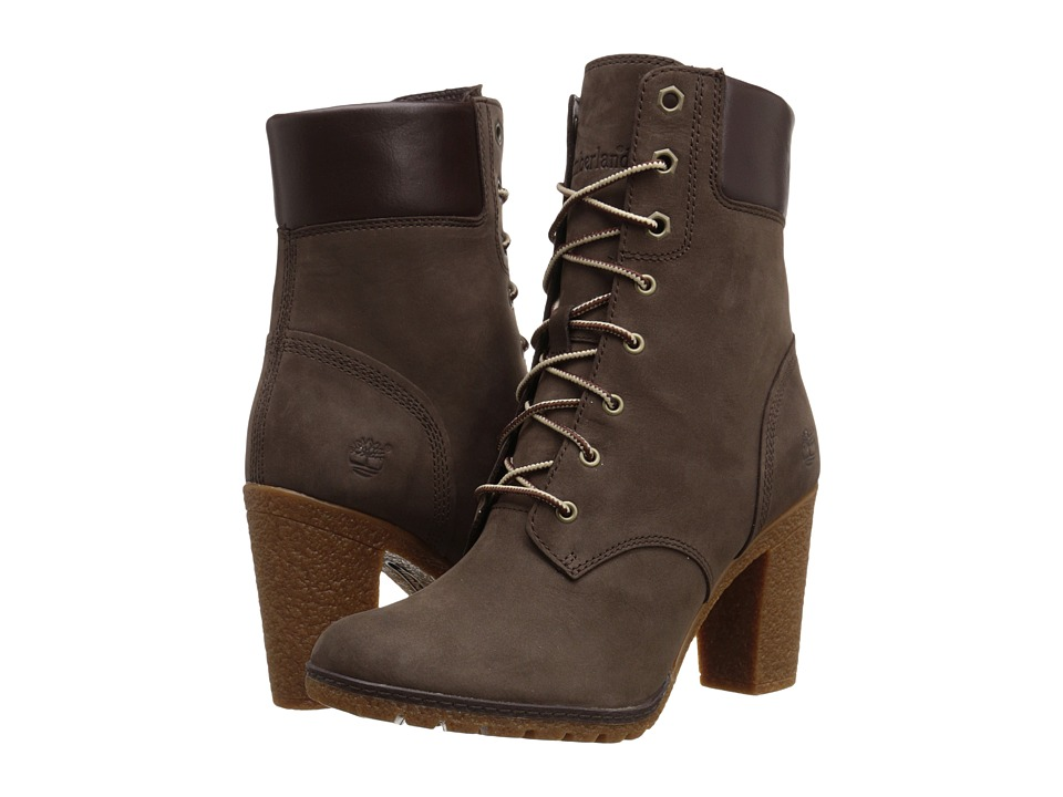 Timberland Earthkeepers Glancy 6 Boot Dark Brown Nubuck Womens Dress Lace up Boots