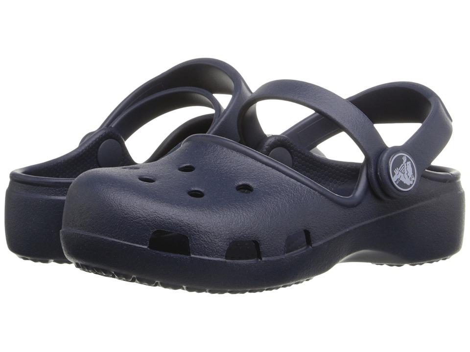 Crocs Kids Karin Clog K Toddler/Little Kid Navy Girls Shoes