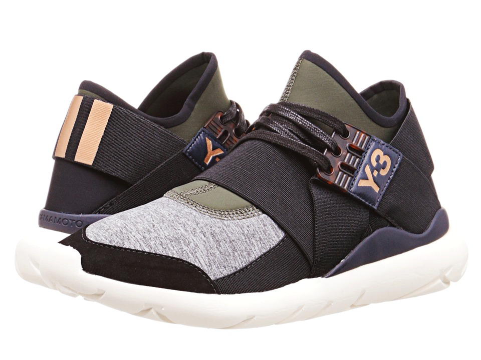 adidas Y 3 by Yohji Yamamoto Qasa Elle Lace Night Cargo/Black/Medium Grey Heather Womens Lace up casual Shoes