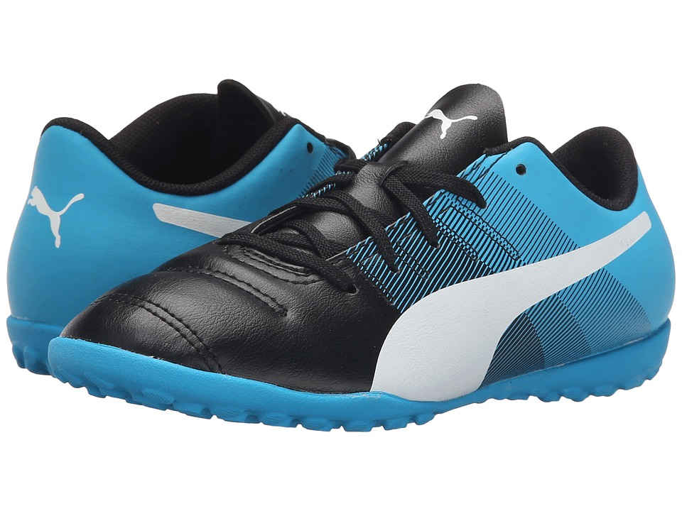 Puma Kids - evoPOWER 4.3 TT Jr (Little Kid/Big Kid) (Black/White/Atomic Blue/Safety Yellow) Kids Shoes