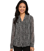 Calvin Klein - Printed Blouse w/ Detachable Scarf