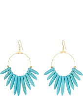 Kenneth Jay Lane - 6794ET Spikes , Gold Hoop Fishhook Earrings