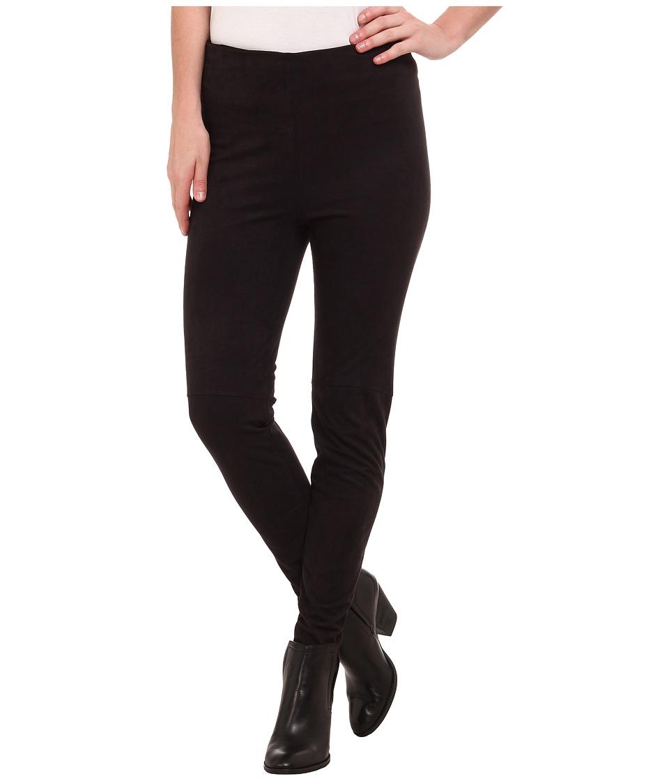 Lysse High Waist Suede Leggings Black Womens Casual Pants