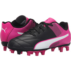 PUMA Adreno 2 FG Firm Ground Kids Soccer Shoes (Black/White/Pink Glo)