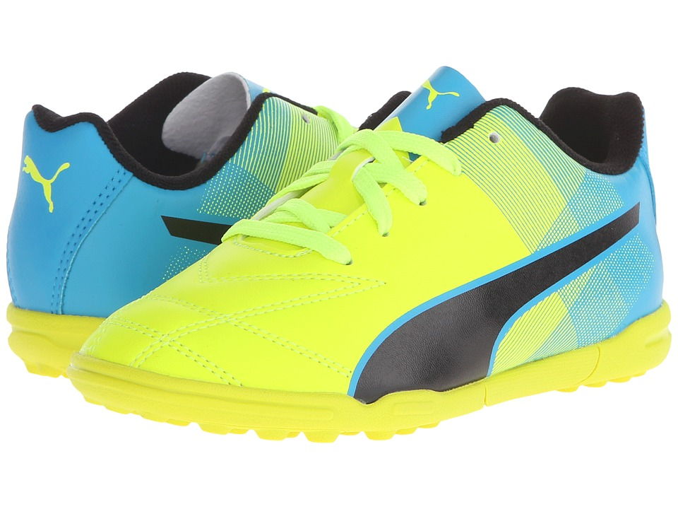 Puma Kids Adreno II TT Jr Soccer Toddler/Little Kid/Big Kid Safety Yellow/Atomic Blue/Black Kids Shoes